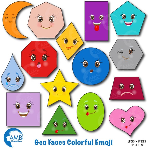 emoji clipart faces clipart feelings clipart geometric shapes rh catchmyparty com clip art shapes 5 stage planning circle clip art shapes frames