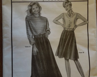 Ann Person collectibles, Stretch & Sew 481, 6-gore skirts, misses, womens, hip sizes 32-48, UNCUT sewing pattern, craft supplies