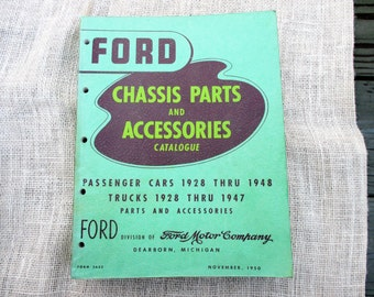 Vintage 1950 Ford Chassis Parts and Accessories Catalogue