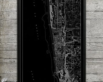 Map of Naples FL Print, Wall Decor for your Home or Office