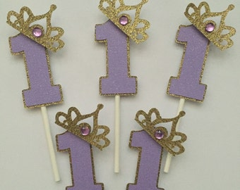 Princess/ Sofia the first cupcake toppers