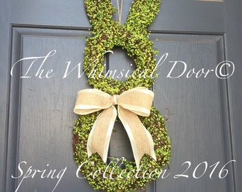 Bunny Wreath leaf and Berry Bunny Wreath Easter Wreath Spring Wreath Bunny Wreath Grapevine Wreath Moss Wreath Ships Free!