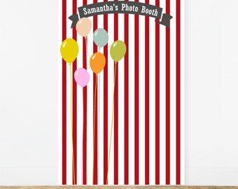 Birthday Balloon Personalized Photo Booth Backdrop (ENWF-JM350217 )