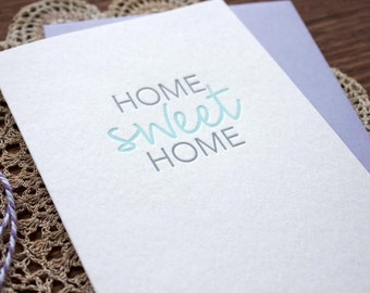 Home Sweet Home - Letterpress Housewarming Card