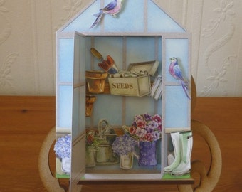 3D Garden Shed Birthday Card