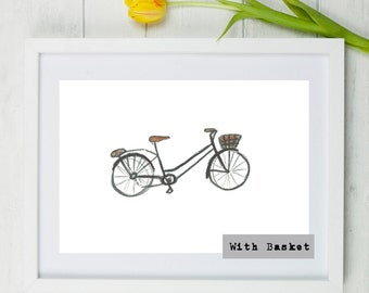 Bike, Cycle, Bike Drawing, bike sketch, wall art, present, gift, boyfriend, fathers day, dad, sport, cyclist, cycling, sporty