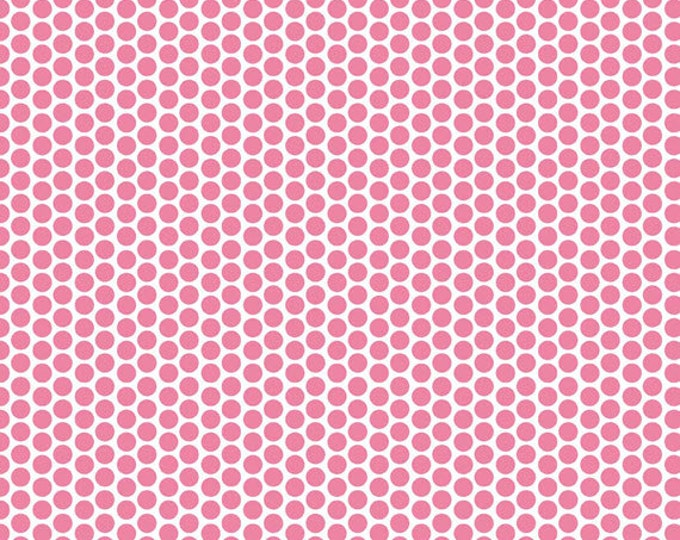 One Yard Honeycomb Dots - Reversed Dot in Hot Pink - Cotton Quilt Fabric - C800-70 - RBD Designers for Riley Blake Designs (W3314)