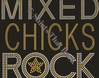 Mixed Chicks Rock Gold T-Shirt © 2015. All Rights Reserved.