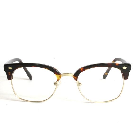 semi rimless brow line handmade malcolm x eyeglasses 51 20