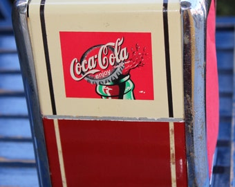 VINTAGE COCA COLA Napkin dispenser , Vintage , Free shipping in Canada and United States
