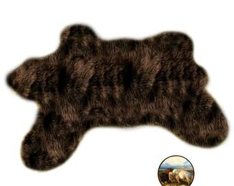 Shaggy Faux Fur Area Throw Rug   Cute Teddy Bear Nursery   Area Carpet    Soft