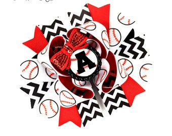 Baseball Bow, Baseball Hair Bow, Baseball Hair Clip, Baseball Headband, Baseball Baby, Baseball Sister, Baseball Girl, Base ball Bow
