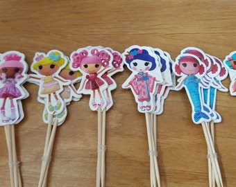 LALALOOPSY CUPCAKE TOPPERS DoLLS Whimsical Girl Birthday Baby Shower