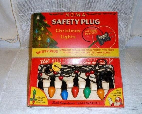 NOMA Safety Plug Christmas Lights-Vintage Christmas Tree