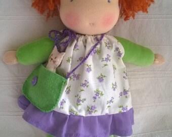 Lenka Handmade Waldorf Doll 30cm (12in),cloth doll, ragdoll