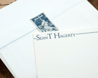 Letterpress Personalized Stationery, Custom Personal Stationery, Letterpress Correspondence Card, Personalized Flat Card