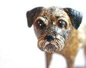 Custom Dog Portrait in polymer clay