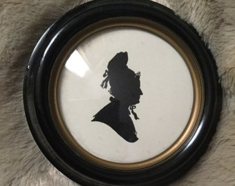 Victorian Silhouette Picture Frame