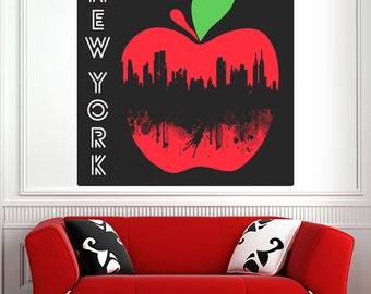 New York City Big Apple Wall Decal - #69996