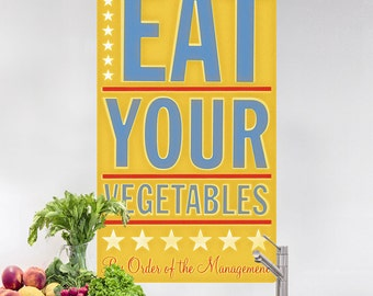 Eat Your Vegetables Management Wall Decal - #64610