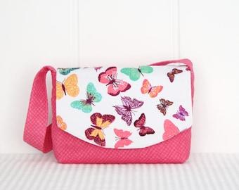 Little Girls Bag / Shoulder Bag / Handbag / Kids Bag / Butterflies