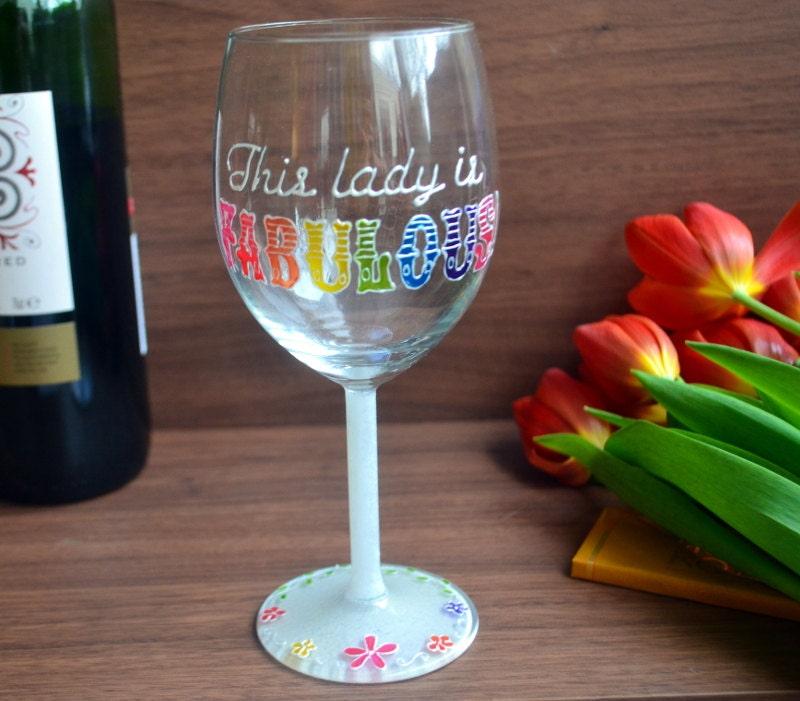 Fabulous Wine Glass 50th Birthday Gift 40th Birthday Gift