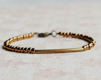 Bronze Seed Bead Bracelet, Stacking Bracelet, Seed Bead Bracelet, Simple Bracelet, Beaded Bracelet, Minimalist Bracelet, Dainty Bracelet