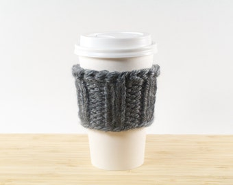 The Java Balaclava || Knitted Travel Coffee Cup Cozy +  Choose Your Color
