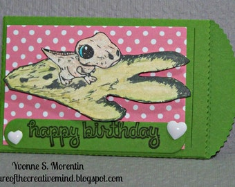 Happy Birthday... T Rex... Gift Card Holder...