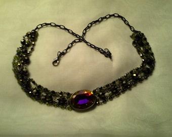 Large Mystic w/ Multi Black Chain