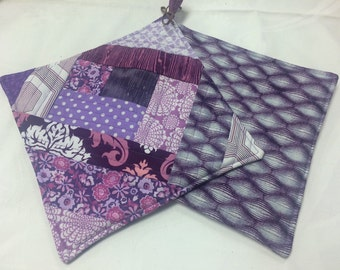 Purple Potholders - set of 2