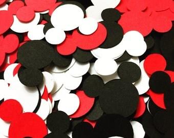 Mickey Mouse Confetti (1, 2 or 3 Color Confetti)