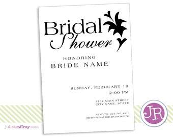 Simple Flower Bridal Shower Invitation
