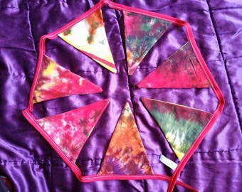 Recycled Multi Coloured Tie Dye Bunting