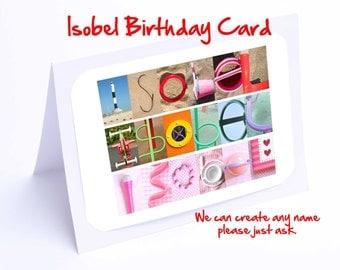 Isobel Personalised Birthday Card