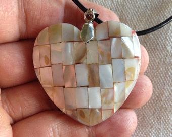 Jewelry SALE! Beautiful Unique Heart Shell Pendant Necklace - Heart Shell Pendant - Heart Shaped Shell Necklace - Shell Pendant Necklace