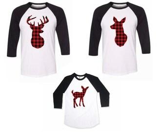 Adult Deer Shirt, Plaid, Hunter, Deer and Doe Shirts, Women's Deer  Shirt, Men's Deer Shirt, Women's Doe Shirt