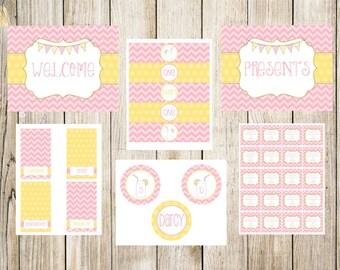 Pink Lemonade Birthday Party Printable Package