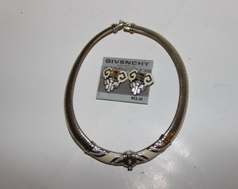 Givenchy Designer Necklace and Earings Vintage Paris-New York