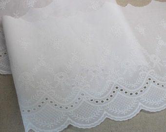 """1yard Broderie Anglaise Cotton Eyelet lace trim 8.2""""(21cm) YH1323 laceking2013"""