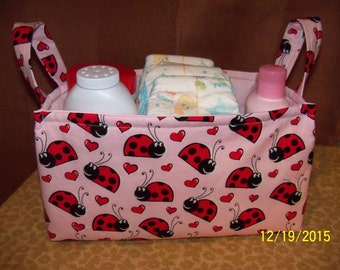 Nursery Tote, Baby Accessory, Toy Bag, Diaper Tote, Diaper Caddy, Baby Caddy