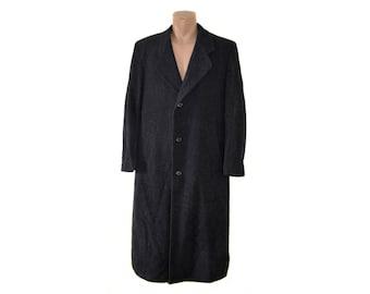 Vintage Roundtree & Yorke for Dillard's men wool long coat dark gray