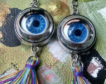 Doll eyeball earrings