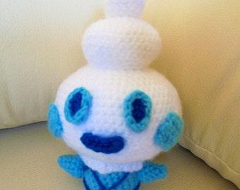 Crochet PATTERN Pokemon Vanillite amigurumi doll