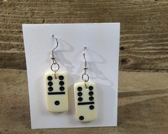 domino earrings / nickel free / upcycled / recycled / repurposed