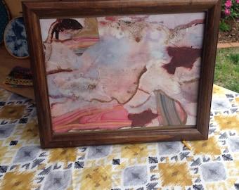 Watercolor mixed media painting