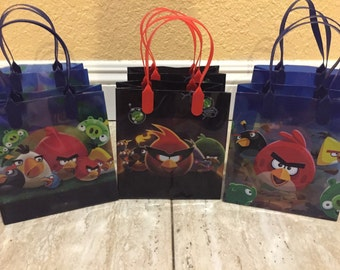 Angry Bird Party Favor Bags -12- Angry Bird Party, Angry Bird Party Decoration