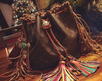 Taking orders for Fringed out LV Noe Bags!!! We use ONLY authenic vintage bags!