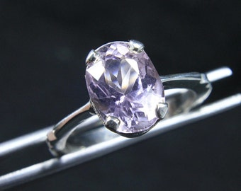Top Quality Pink Kunzite Ring in 925 Silver
