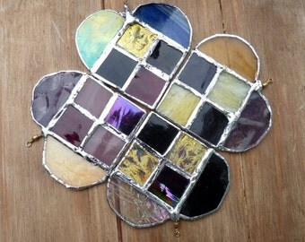 Hearts in stained glass -suncatchers